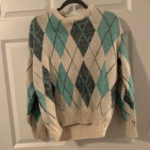 Vintage Alfred Dunner chunky knit grandpa sweater